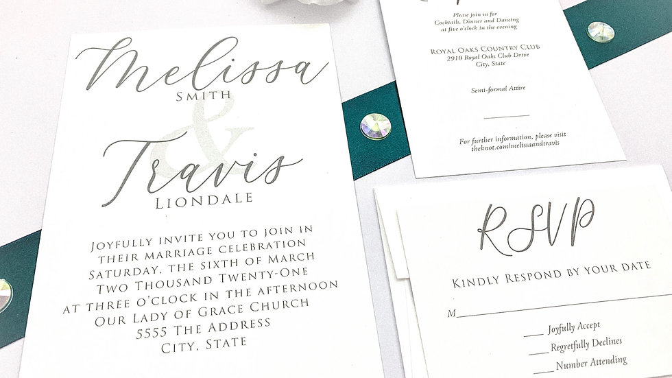 Wedding Invitations - The Adore Suite