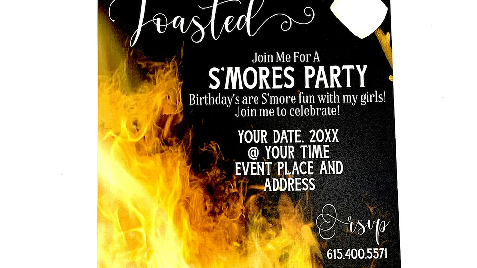 S'mores Party Invitation, Let's Get Toasted
