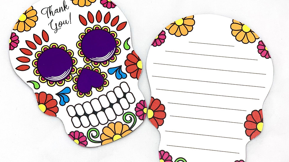 Day of the Dead Thank You Cards, Sugar Scull Thank You Cards