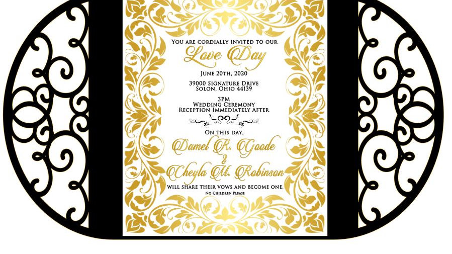 Private Listing for Goode Wedding - 55 Invitations