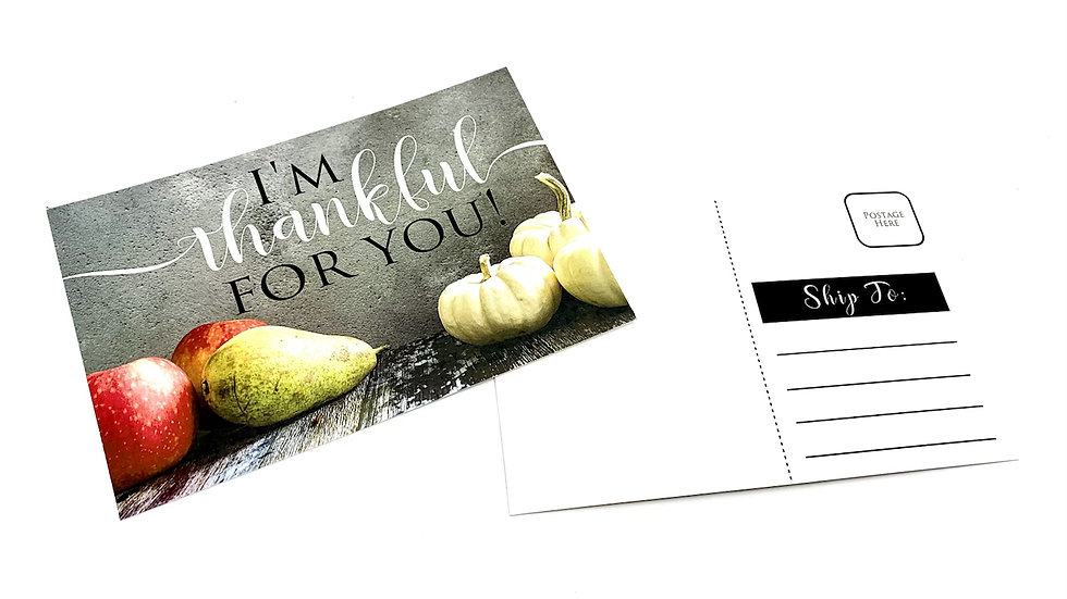 Thankful For You Post Cards - Set of 12