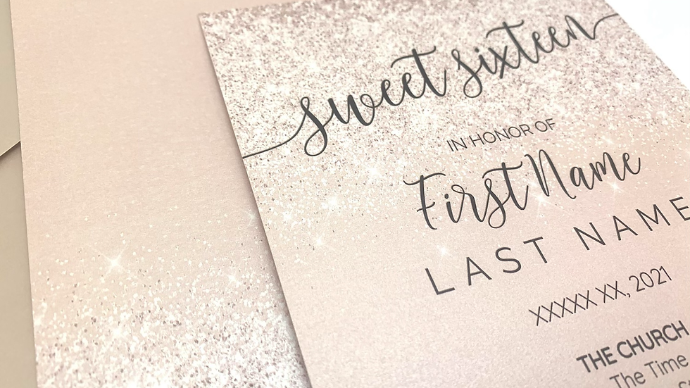 Blush Rose Gold Invitations