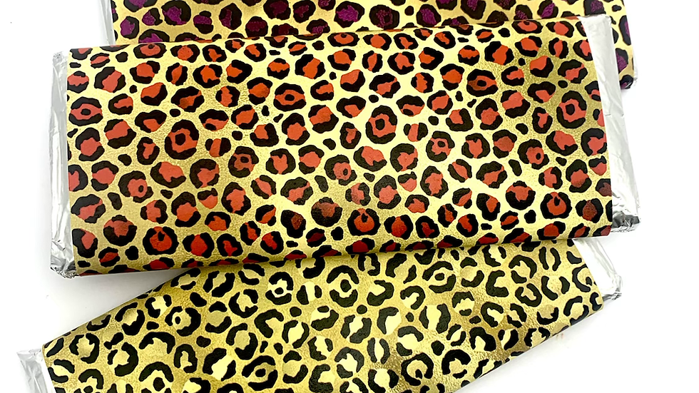 Leopard Print Candy Bar Wrappers  • Choose your print!
