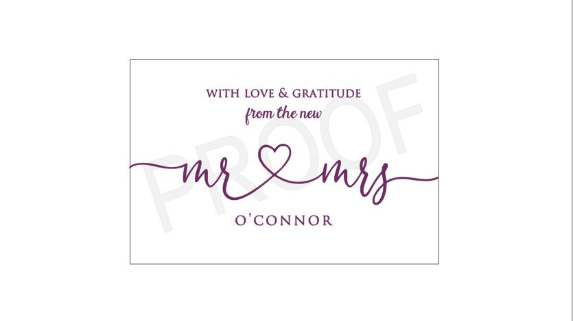 Private Listing for the O'Connor's - 45 Mr. and Mrs. Fold Open Cards