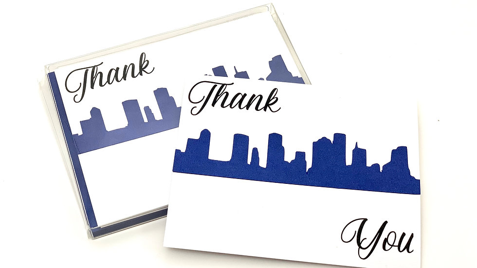 Skyline Thank You Cards - Houston Skyline Pictured