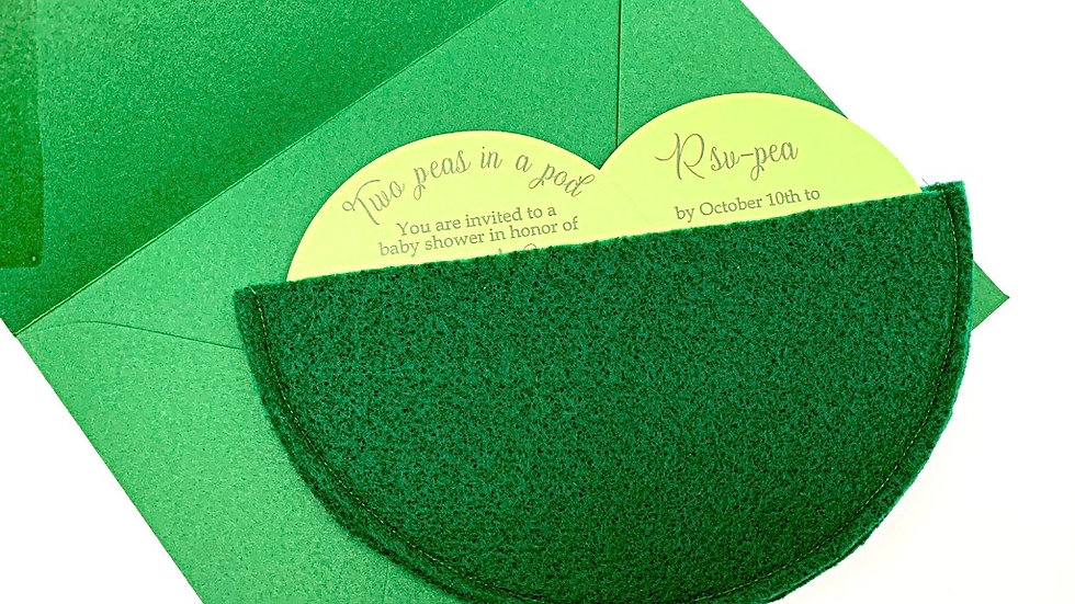 Two Peas In A Pod Invitations, Twin Baby Shower Invitations