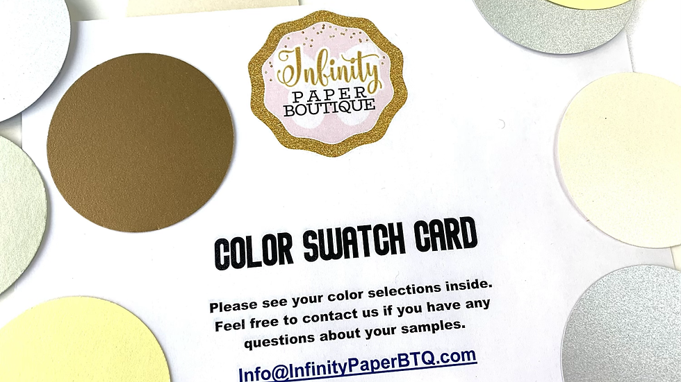 Color Swatch Card, Cardstock Samples, Ribbon Samples