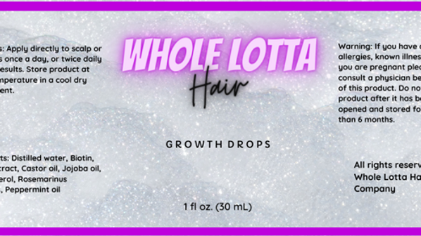 Private Listing for Whole Lotta Hair