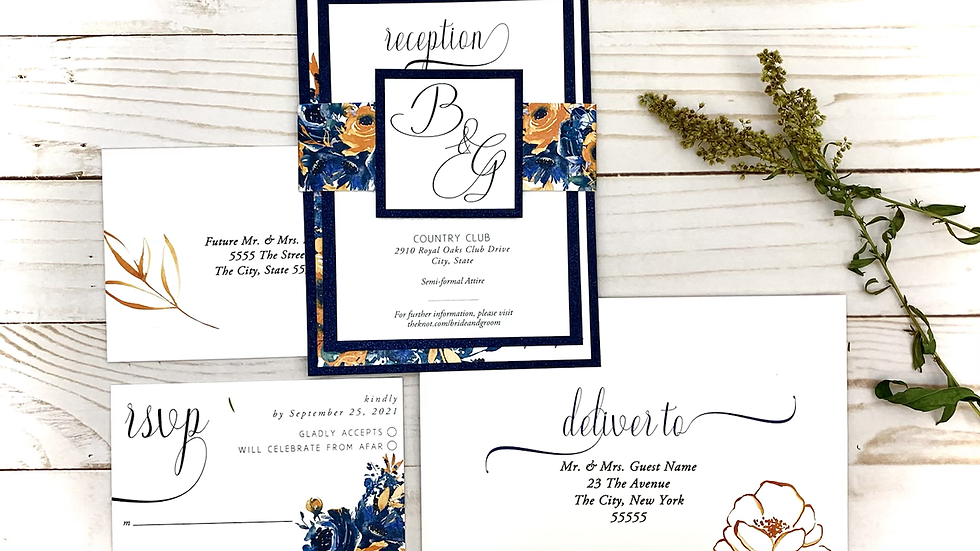 Let's Fall In Love - Wedding Invitation Suites