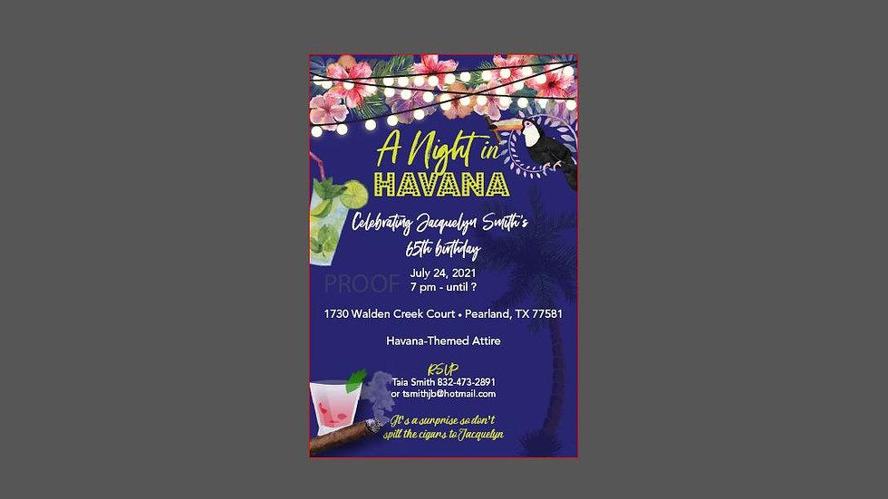 Havana Nights Invitations
