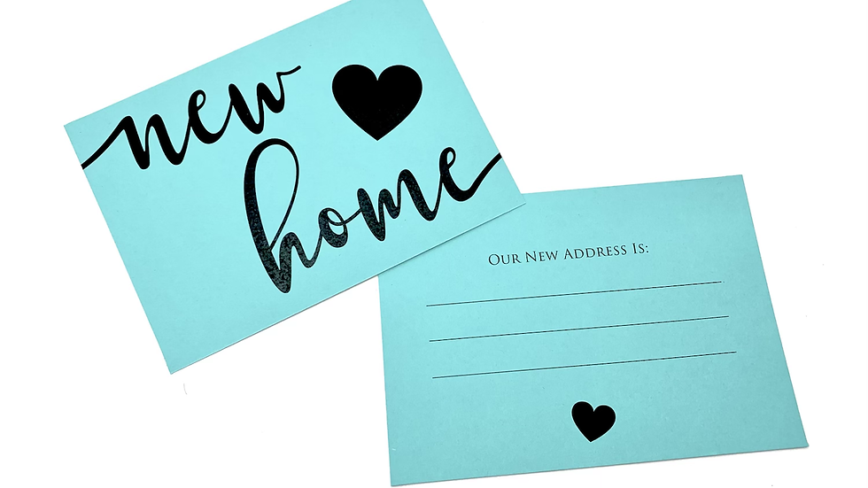 New Home Note Cards, We've Moved Cards