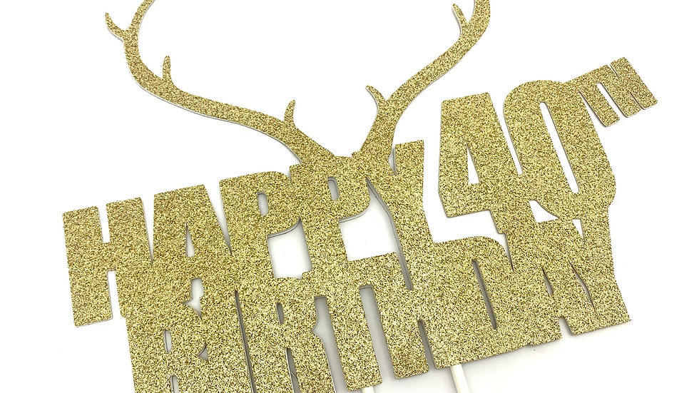 Happy Birthday With Antlers
