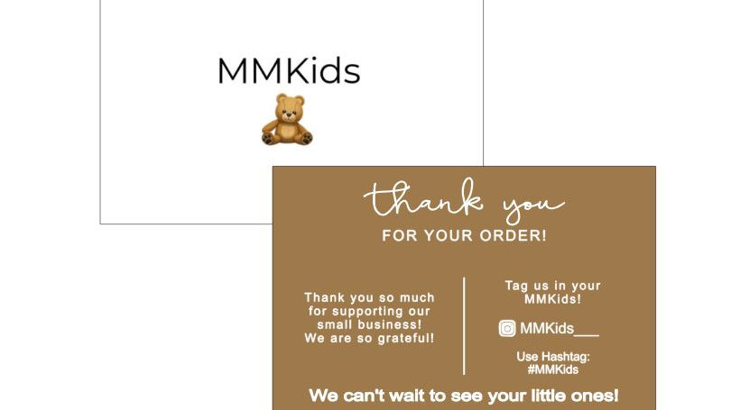 """Thank You Business Cards - 4.5"""" x 3.5"""""""