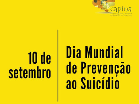 10 de setembro - Dia Mundial de Prevenção ao Suicídio