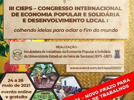 III CIEPS - Congresso Internacional de Economia Popular e Solidária e Desenvolvimento Local