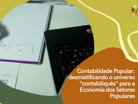 Contabilidade Popular: desmistificando o universo 'contabiliquês' para a ESP