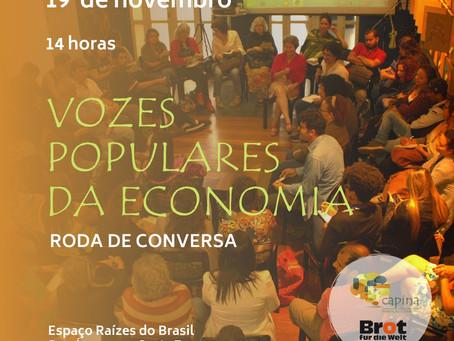 Vozes Populares da Economia - roda de conversa