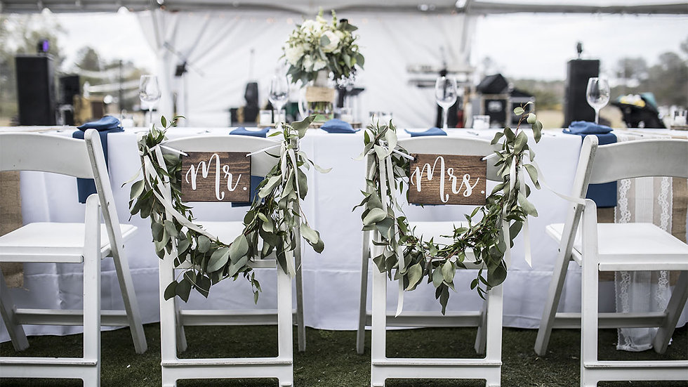 Mr. & Mrs. Seating Signs