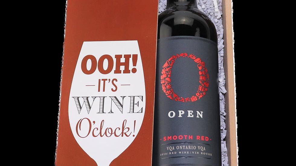 """OOH! It's Wine O'Clock"" Wine Box"