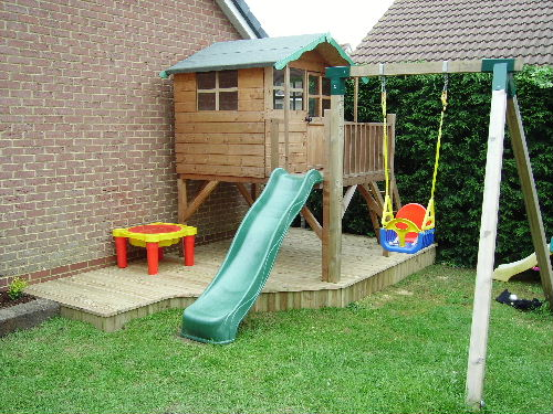Decking Kids Play Area Dorchester