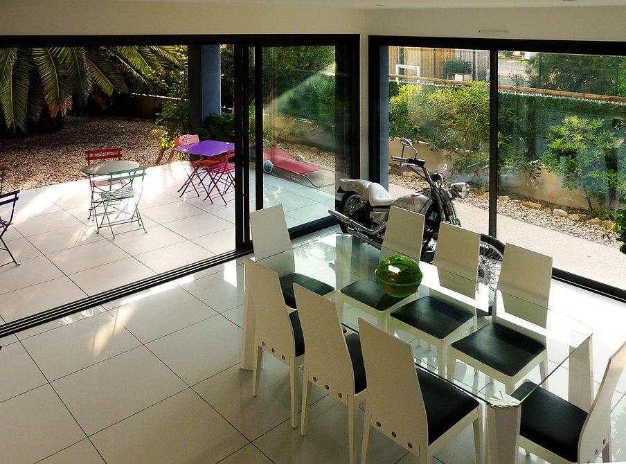 Villa d'architecte, maison contemporaine, constrution, villa de vacance, leucate, architecte, construction neuve