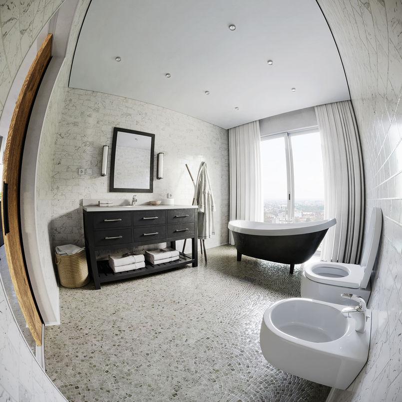 Bathroom (fisheye view)