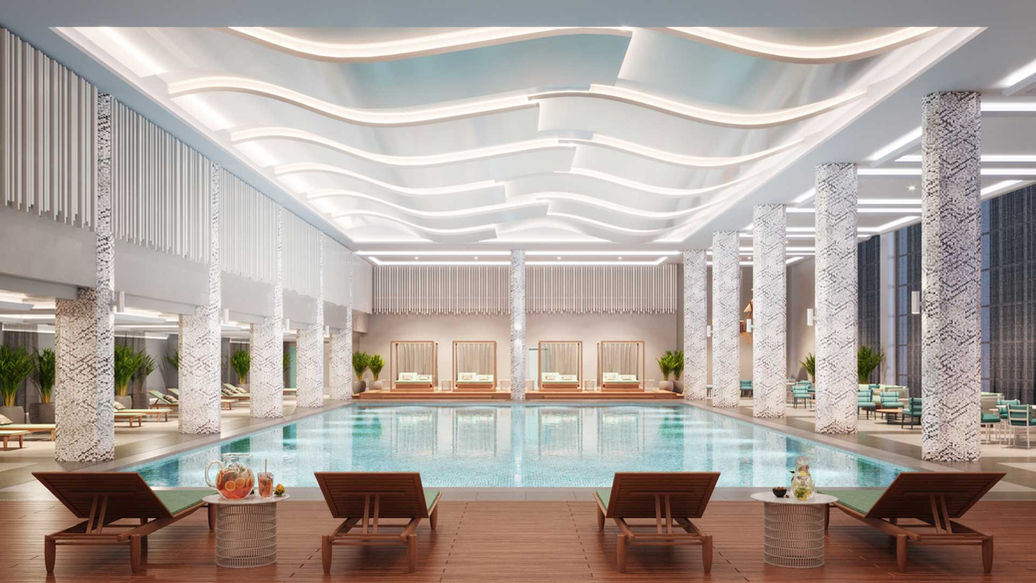 Hyatt Regency indoor pool