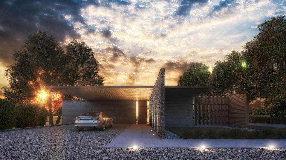 Pavilion sunset