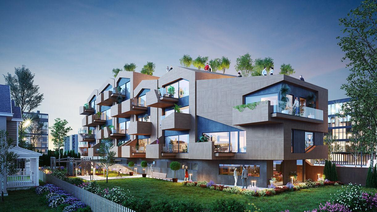 Norwegian architecture backyard