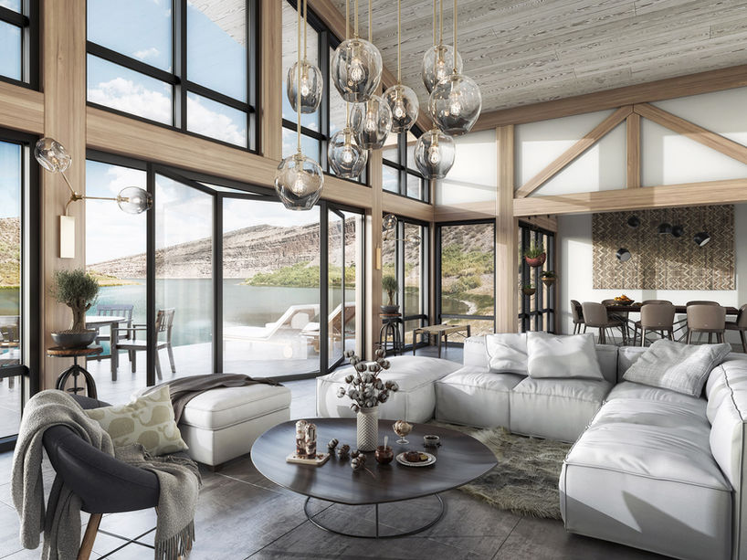 Lake house interior