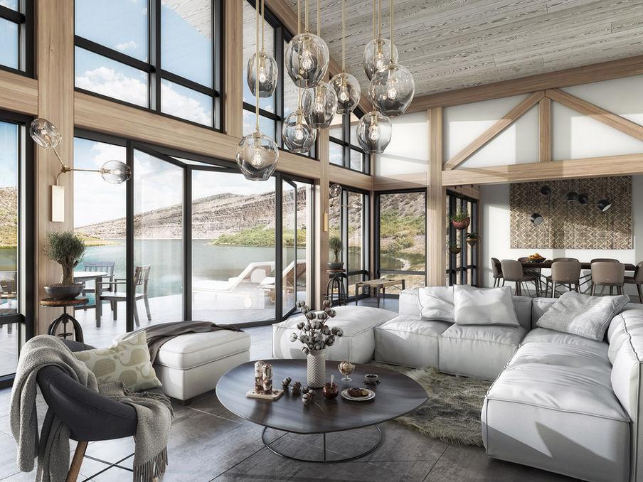 Lake house interior