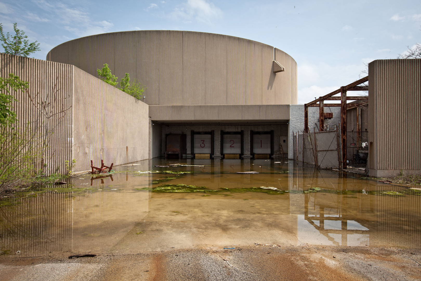Randall Park Mall | Flooded Delivery Bay