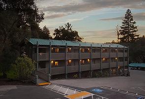 Oakwood Lodges at dusk