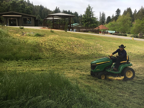Keeping our grounds mowed and clean!