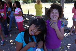 Campers laughing during discovery camp
