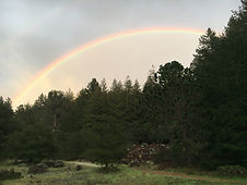 rainbow over camp
