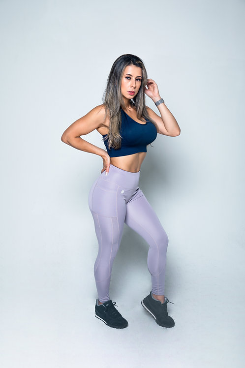 Purple Gray Diamond - Brazilian Bombshell Legging