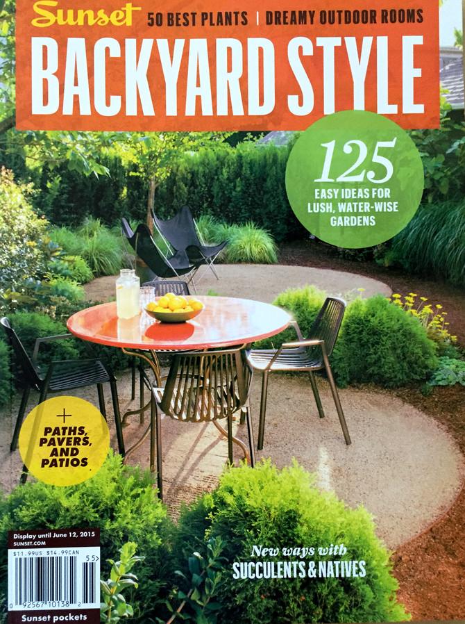 Sunset Magazine featuring my green thumb!