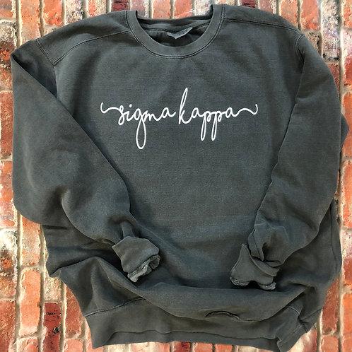 Custom Sigma Kappa Shorelines Comfort Colors Sweatshirt
