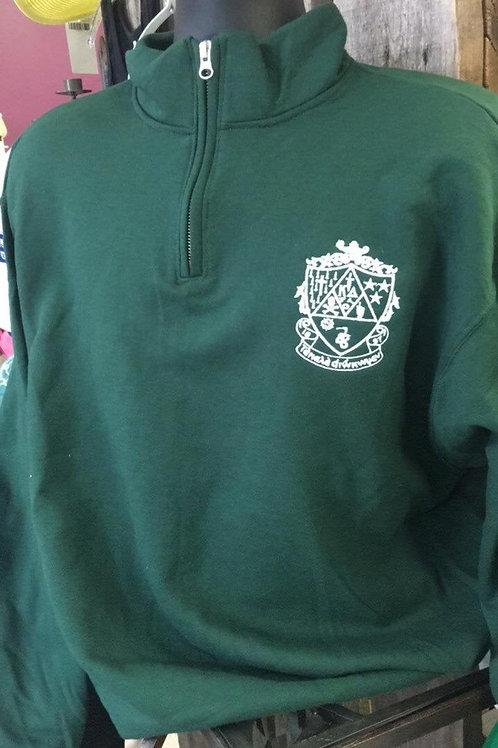 Kappa Delta Crest Embroidered Quarter Zip Sweatshirt