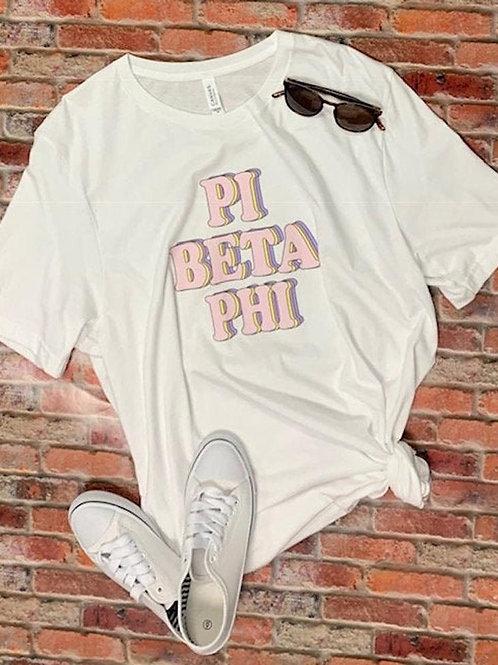 Pi Beta Phi Retro Sorority Shirt