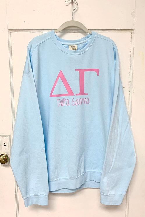 Delta Gamma Comfort Colors Sweatshirt