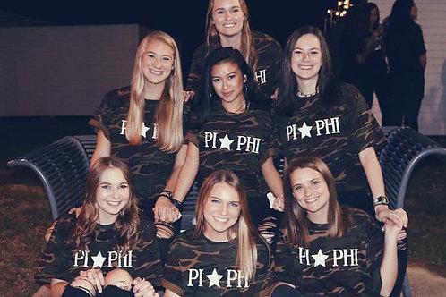Pi Beta Phi Camo Tshirts