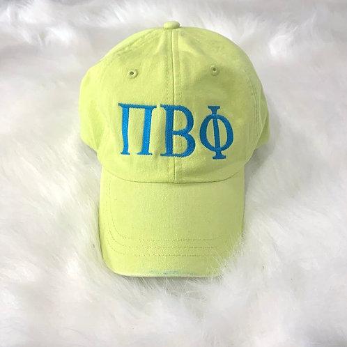 Pi Beta Phi Embroidered Greek Letter Hat