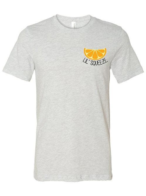 Big Little Shirt - Big Squeeze Little Squeeze Left Chest Orange Design