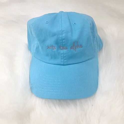 Zeta Tau Alpha Embroidered Hat
