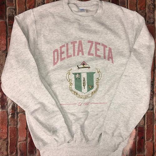 Delta Zeta Crest Sweatshirts and Tshirts