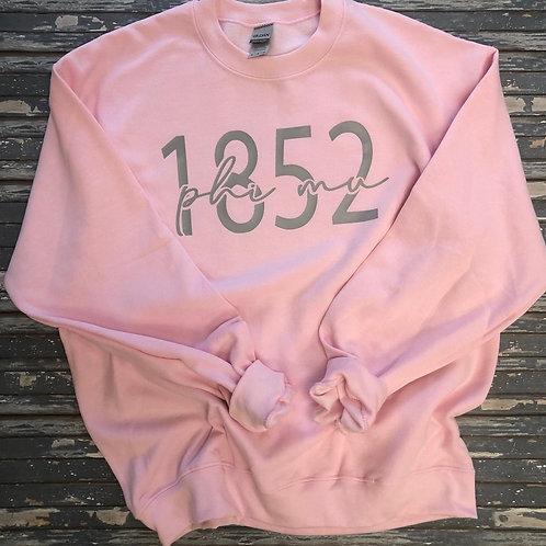 Phi Mu Established Date Sweatshirt
