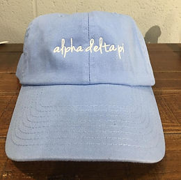 Alpha Delta Pi Embroidered Hat - Completely Customizable!