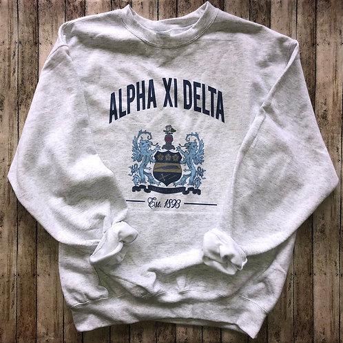 Alpha Xi Delta Crest Sweatshirts and Tshirts
